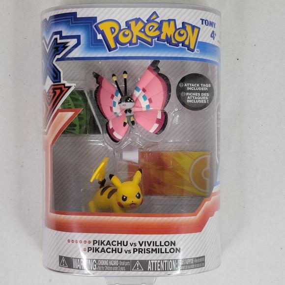 Pokemon Pikachu VS Vivillon